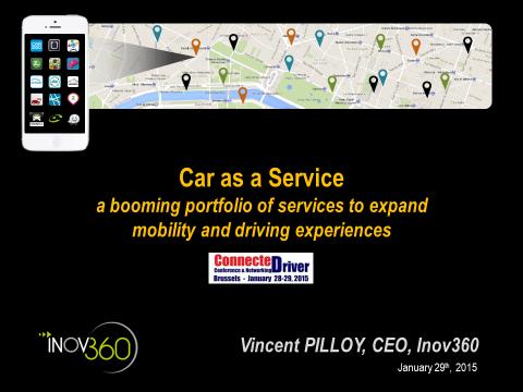 """Inov360 animera la session sur les """"Nouvelles Mobilités"""" à ConnecteDriver 2015"""