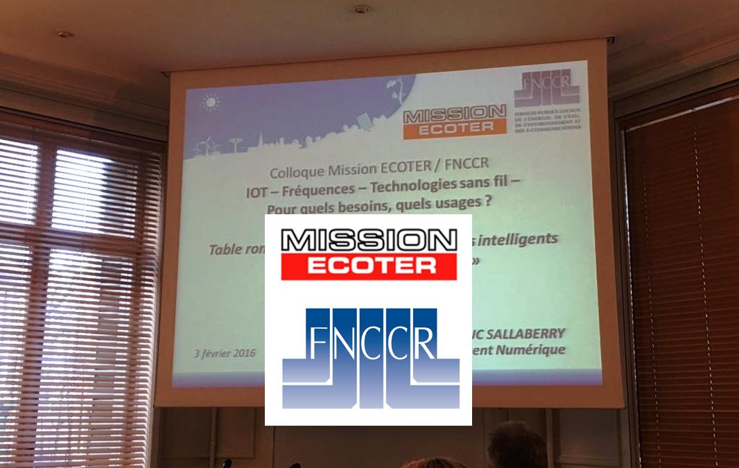 Guillaume Macaigne intervient au Colloque de la Mission Ecoter et de la FNCCR sur le thème de l'IoT