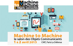 Machine to Machine and Connected Objects trade show 2015 – Paris