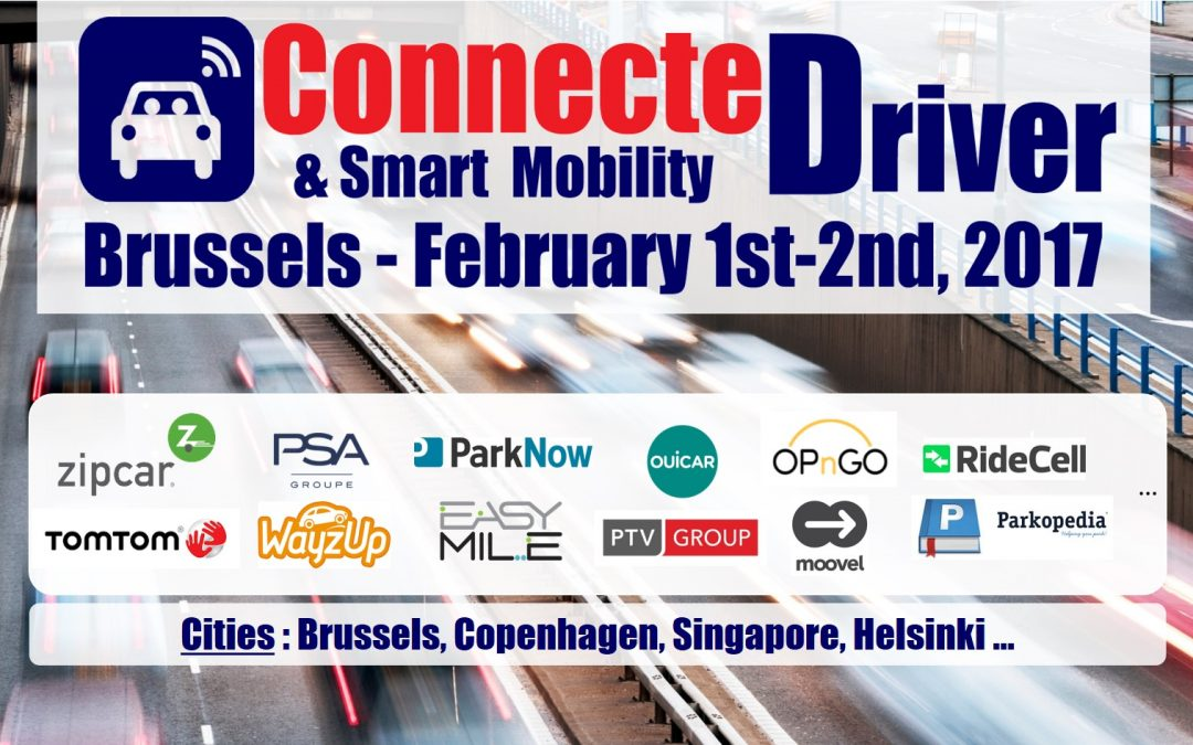 "Inov360 will lead the ""Smart Mobility"" track at ConnecteDriver 2017, in Brussels, on Feb 1st and 2nd"